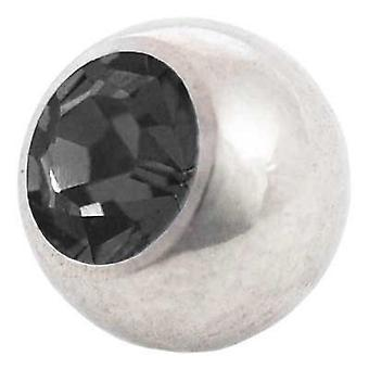 Piercing Replacement Ball, Black Stone | 1,2 x 3 and 4 mm, Body Jewellery
