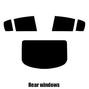 Pre cut window tint - Renault Megane 4-door Saloon - 2002 to 2008 - Rear windows