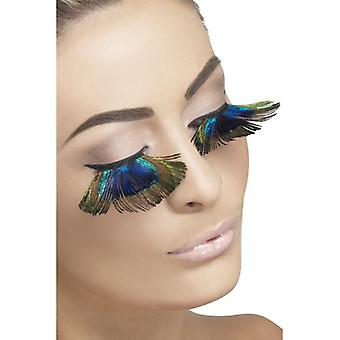 Smiffy's Eyelashes Peacock Feathers