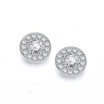 Cavendish French I'm Cute' CZ and Silver Earrings