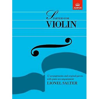 Starters for Violin by Lionel Salter - 9781854723956 Book