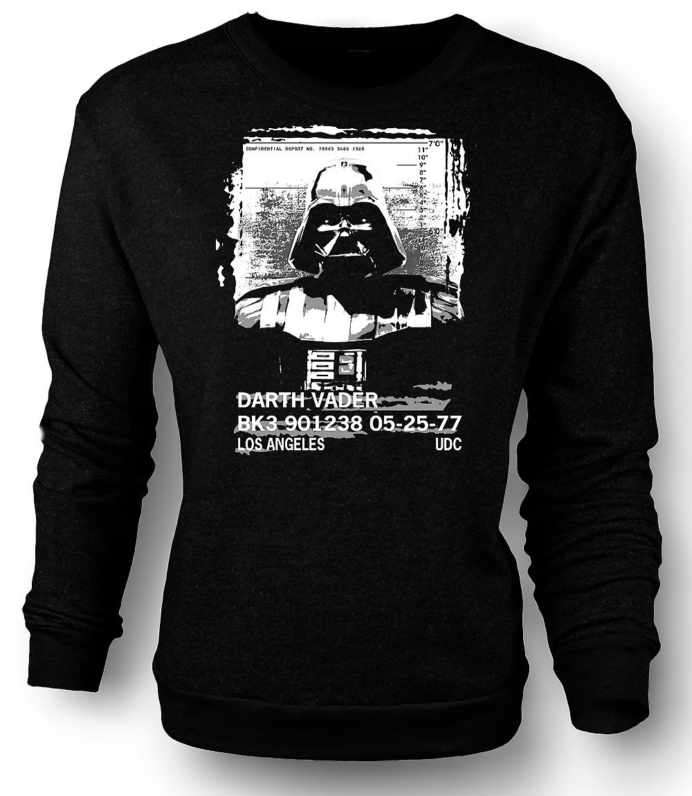 Mens Sweatshirt Darth Vader Mug Shot - Star Wars