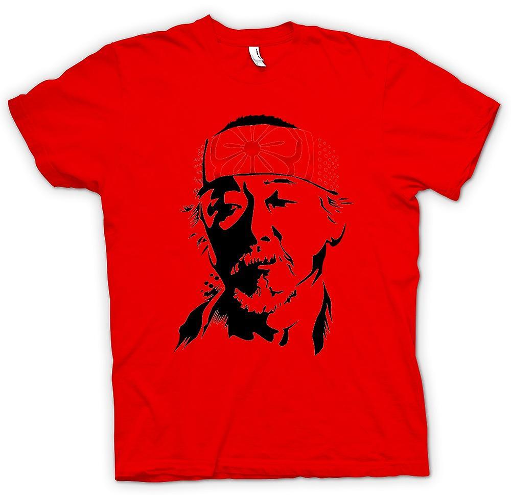 Mens T-shirt - Karate Kid Mr Miyagi - Portrait