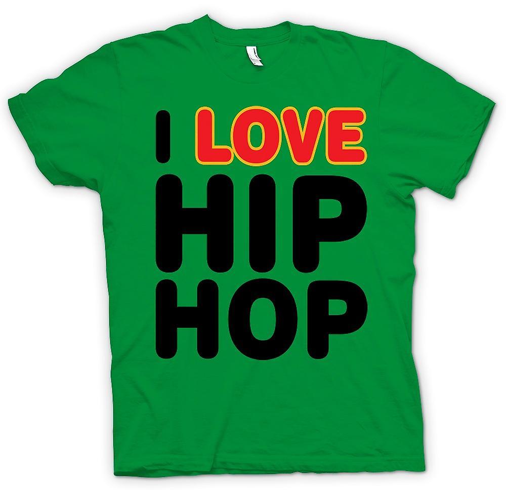 Heren T-shirt - Ik hou van Hip Hop - grappig