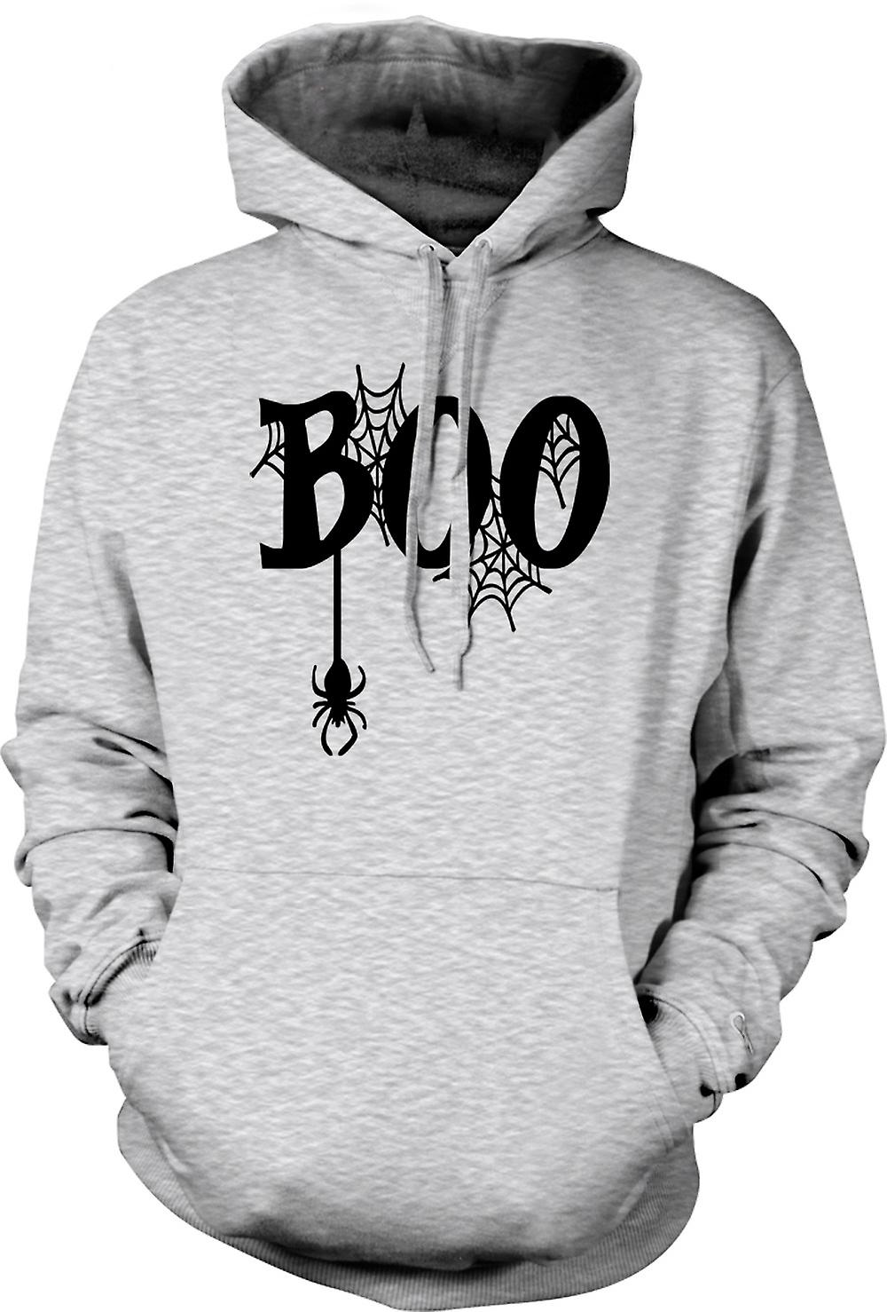 Mens Hoodie - Boo - Spiders Web - Funny