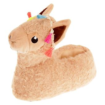 Slumberzzz Childrens/Kids Llama Slippers