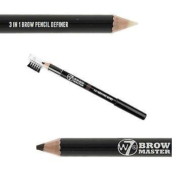 W7 Brow Master 3 In 1 Brow Pencil Definer Brown