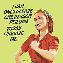 I Can Only Please One Person.... single funny drinks coaster   (hb)