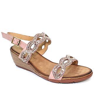 Lunar Sadie Gemstone Wedge Sandal