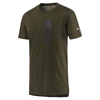 Puma energia grafica Triblend Mens Fitness Training t-shirt Tee verde