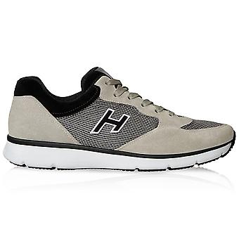 Hogan Traditional 20.15 Beige/black Suede Sneakers