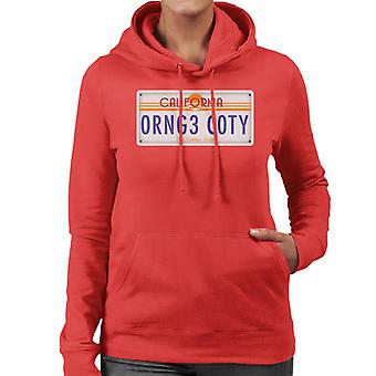 Orange County Kalifornien registreringsskylt kvinnor 's Hooded Sweatshirt