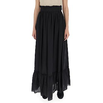 Wandering Black Viscose Skirt