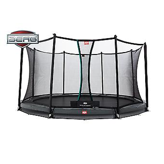 BERG InGround Champion 430 14ft Trampoline+ Safety Net Comfort Grey