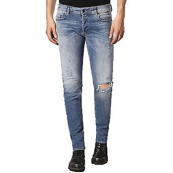 Diesel Sleenker 084GL Distressed Skinny Jeans  Light