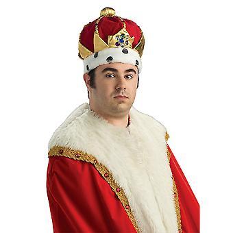 Deluxe Royal King Renaissance Renaissance Velvet Men Costume Crown