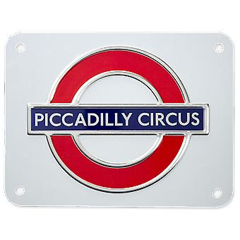 Tfl™3108 licensed piccadilly circus roundel™ metal sign medium size