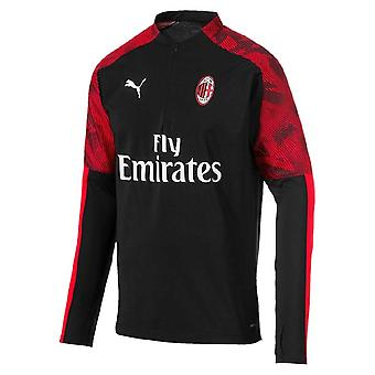 2019-2020 AC Milan Puma Quarter Zip Training Top (Black) - Kids