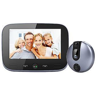 M100 4.3 pulgadas video timbre 2mp hd visión nocturna peep agujero movimiento de la cámara detectar 15s mensaje dejando