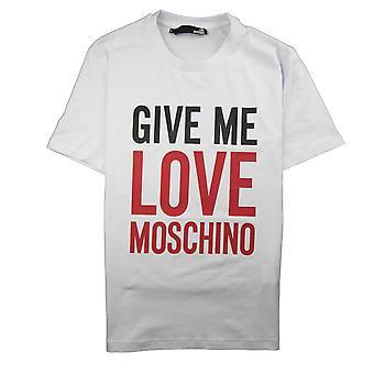 Love Moschino Give Me Love T-Shirt Blanc