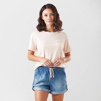 New Roxy Women's Star Solar Short Sleeve T-Shirt Light Pink
