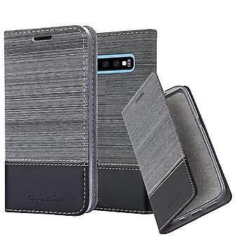 Cadorabo Hülle für Samsung Galaxy S10 PLUS Case Cover - Handyhülle mit Magnetverschluss, Standfunktion und Kartenfach – Case Cover Schutzhülle Etui Tasche Book Klapp Style
