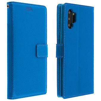 Flip wallet case, slim cover Samsung Galaxy Note 10, silicone shell - Blue