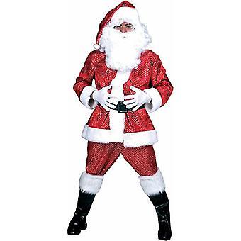 Glitter Santa Claus Men's Costume Disco Santa Claus Men's Costume