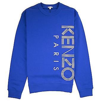 Kenzo Seite Paris Logo Sweatshirt Blau