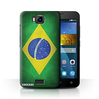 STUFF4 Case/Cover for Huawei Honor Bee/Y5c/Brazil/Brazilian/Flags