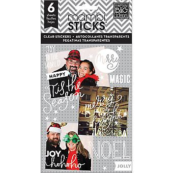 Me & My Big Ideas Pocket Pages Clear Stickers 6 Sheets/Pkg-Joy To The World PPS-18
