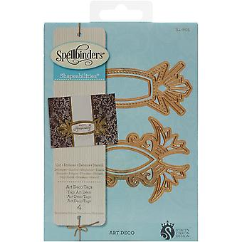 Spellbinders Shapeabilities Dies-Art Deco Tags S4605