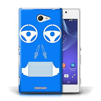 STUFF4 Case/Cover for Sony Xperia M2/Radiator/Blue/Car Part Faces
