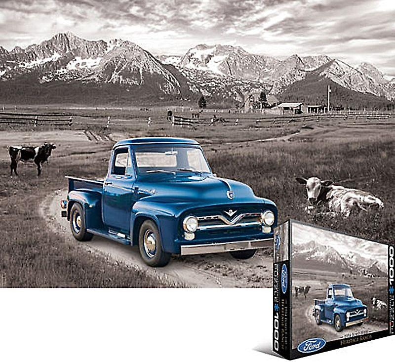 Ford F-100 PickUp Truck 1954 1000 piece jigsaw puzzle 680mm x 490mm  (pz)