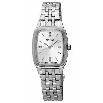 Seiko Womens Tonneau Stainless Steel SRZ469P1 Watch