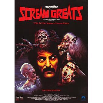 Efeitos de grito Greats Vol 1 Tom Savini mestre do Horror Movie Poster (11 x 17)