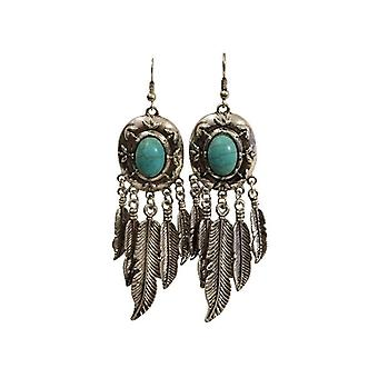Nice boho chic statement earrings with feathers