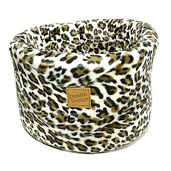 Luxe Leopard Cat Cosy Bed Small 42cm