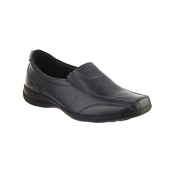 Amblers Merton Ladies Slip-On Shoes Casual Leather Upper Female Stylish Footwear