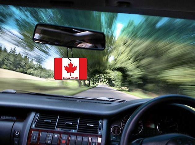 Canada Flag Personalised Car Air Freshener