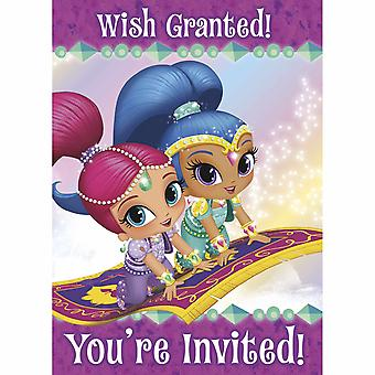 Shimmer and Shine Party Invitations [8 per Pack]