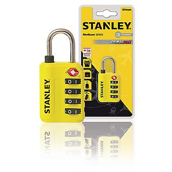Stanley 4-Digit Combination TSA Travel Lock Zinc 30 mm