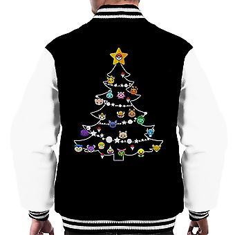 Pokemon Bulbs Christmas Tree Men's Varsity Jacket