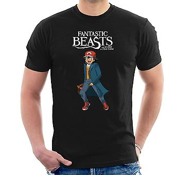 Fantastic Beasts Ash Pokemon Men's T-Shirt