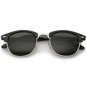 Klassiske Horn kantede Neutral farvet linse semi-uindfattede solbriller 49 mm