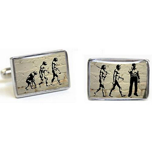 Tyler and Tyler Brick Evolution Cufflinks - White