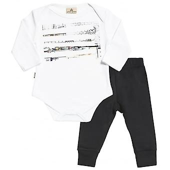 Spoilt Rotten Sketch Print Baby T-Shirt & Baby Jersey Trousers Outfit Set