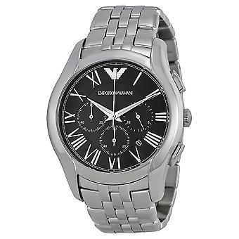 Emporio Armani AR1786 Classic Stainless Steel Black Dial Chronograph Watch