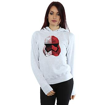 Star Wars Women's The Last Jedi Stormtrooper Red Cubist Helmet Hoodie