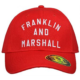 Franklin & Marshall Cpua907 Unisex Baseball Campus Red Cap automatici